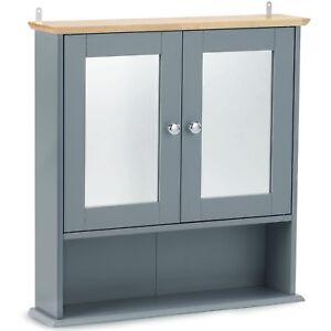 VonHaus Mirrored Bathroom Cabinet Medicine Cupboard Storage Unit