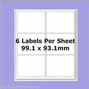 A4 self adhesive labels 6 per sheet l7166 compatible for 6 to a page labels