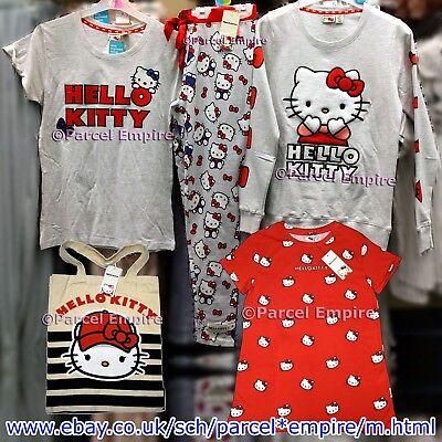 ALL SIZES Official HELLO KITTY T-Shirt Pyjamas Top Leggings PJ Pajamas Primark