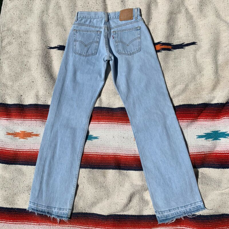 Vtg Levi's 80s 90s Light Wash Surf Skate Womens 26 Denim Jeans Superlow Low Rise
