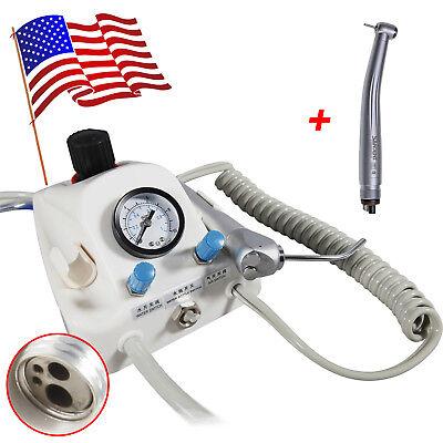 Dental Portable Air Turbine Unit 3water Syringe High Speed Handpiece 4-h Fnsk