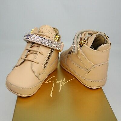 Giuseppe Zanotti Junior Dolly Crib Sneakers Baby's Crystal Embellished Leather