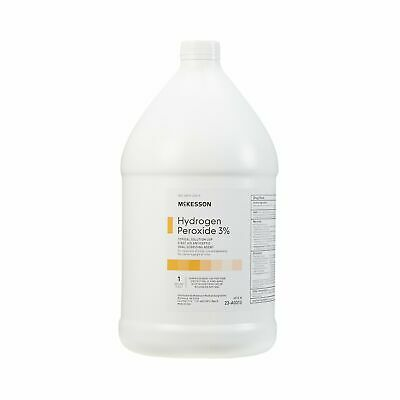 McKesson 1 Gallon First Aid Antiseptic Hydrogen Peroxide 3% Liquid Bottle