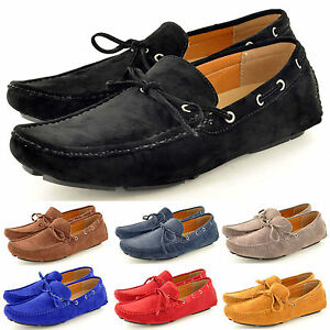 New-Mens-Casual-Loafers-Moccasins-Slip-on-Shoes-with-lace-detail-UK-Size-5-11