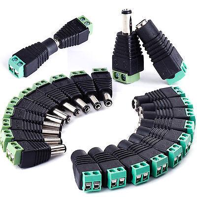 DC Stecker Buchse Steckverbinder Adapter Kupplung 2.1 x 5.5mm mit Schraubklemmen