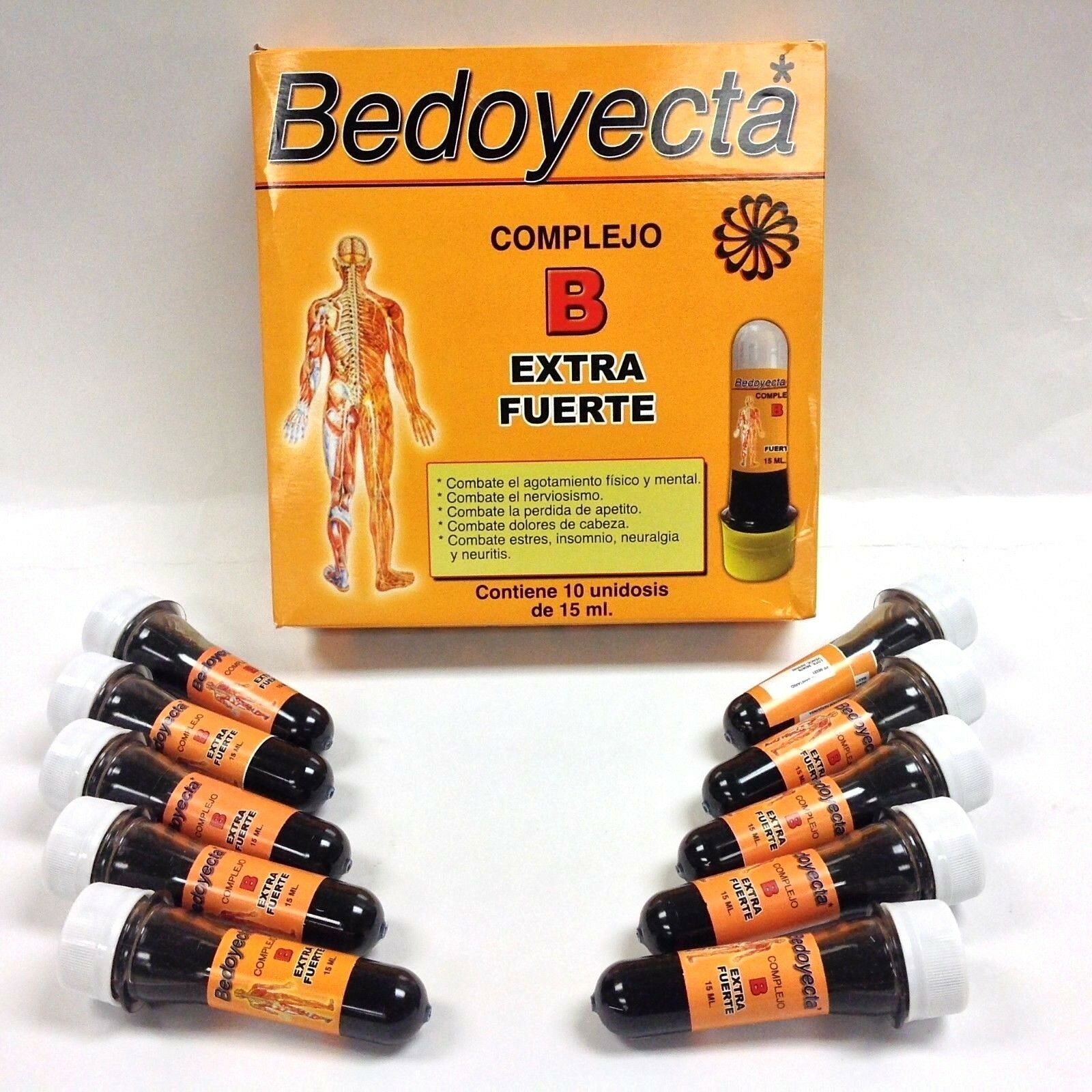2 BEDOYECTA COMPLEJO B EXTRA STRONG DRINKABLE - 10 Bottles 15ml/each 1