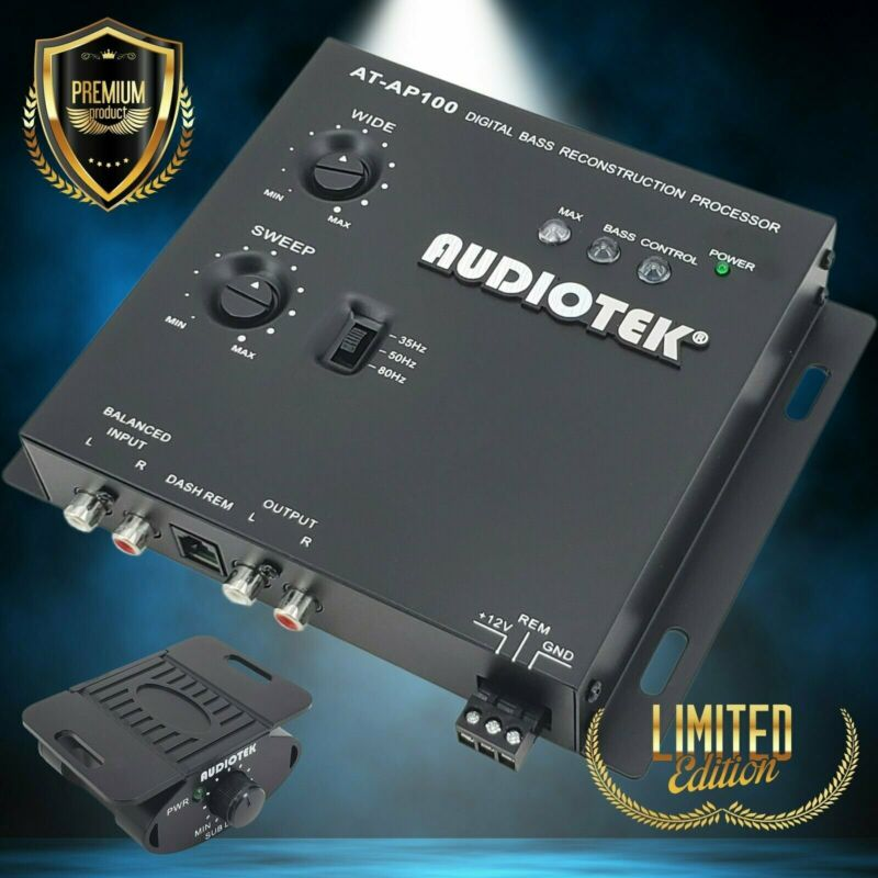 Audiotek AP100  CAR BASS BOOSTER EQUALIZER EPICENTER AUDIO DIGITAL BASS