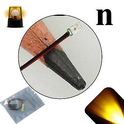 20 X 12v 0606 0603 Yellow Gold Nano Flashing Smd Pre-wired Led Light Blinking