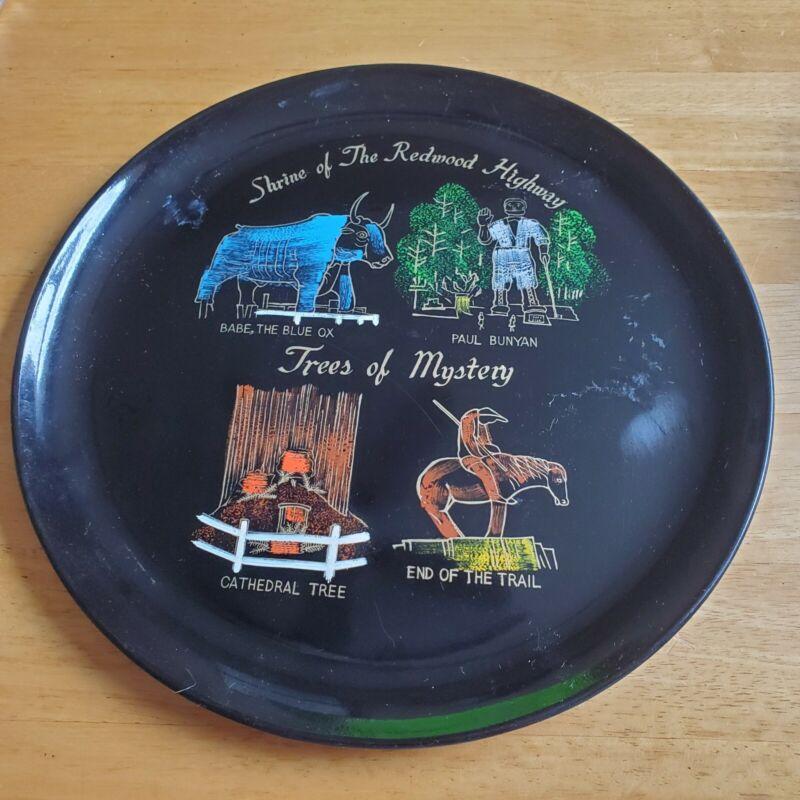 "Vintage EFCCO San Francisco Lacquer-ware Souvenir Decorative 11"" Tray Plate"