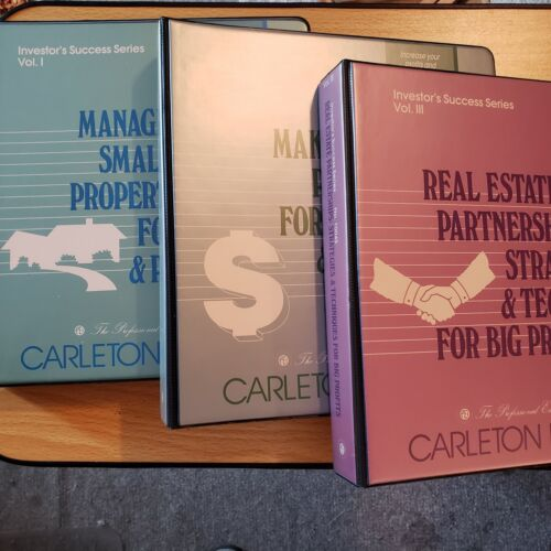 Carleton Sheets Investor Success Series Vol. 1-3 w/18 Cassettes, 1994 Complete