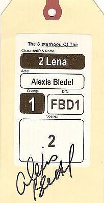 Alexis Bledel Signed Sisterhood Of The Traveling Pants Clothing Tag Coa