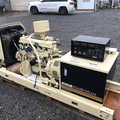 40kw Kohler Natural Gas Open Generator. Tested And Serviced.