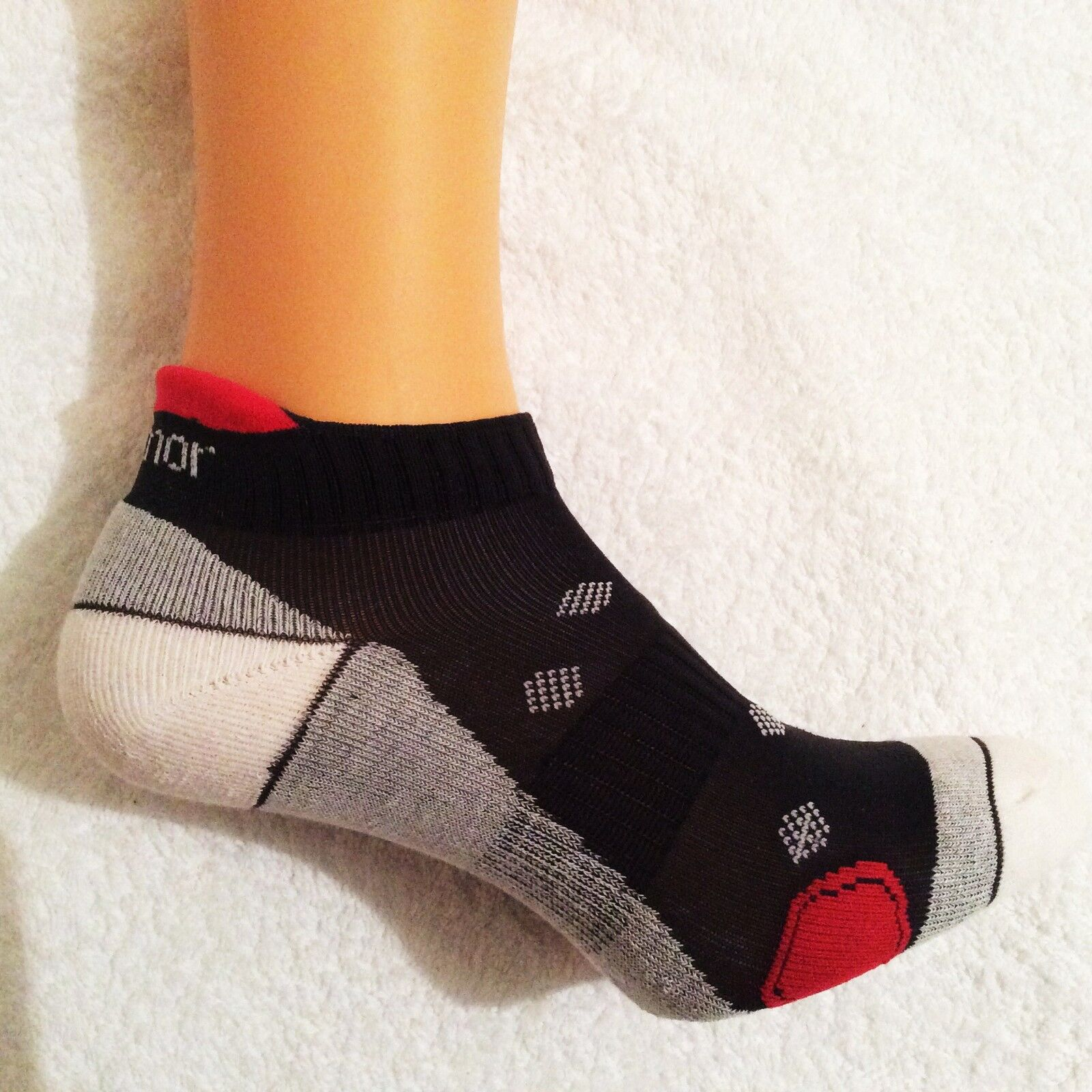 LADIES QUALITY WHITE TAB BACK KARRIMOR PRO DRI RUNNING SOCKS FRESHGUARD SIZE 4//8