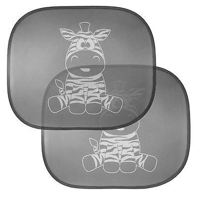 Cartoon KFZ-Seitenfenster Sonnenschutzblenden Zebra f. Kinder u. Babys Saugnapf