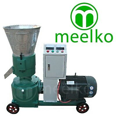 Combo Pellet Mill 7.5kw 10hp Hammer Mill 1.5kw Electric Engine Free Shipping
