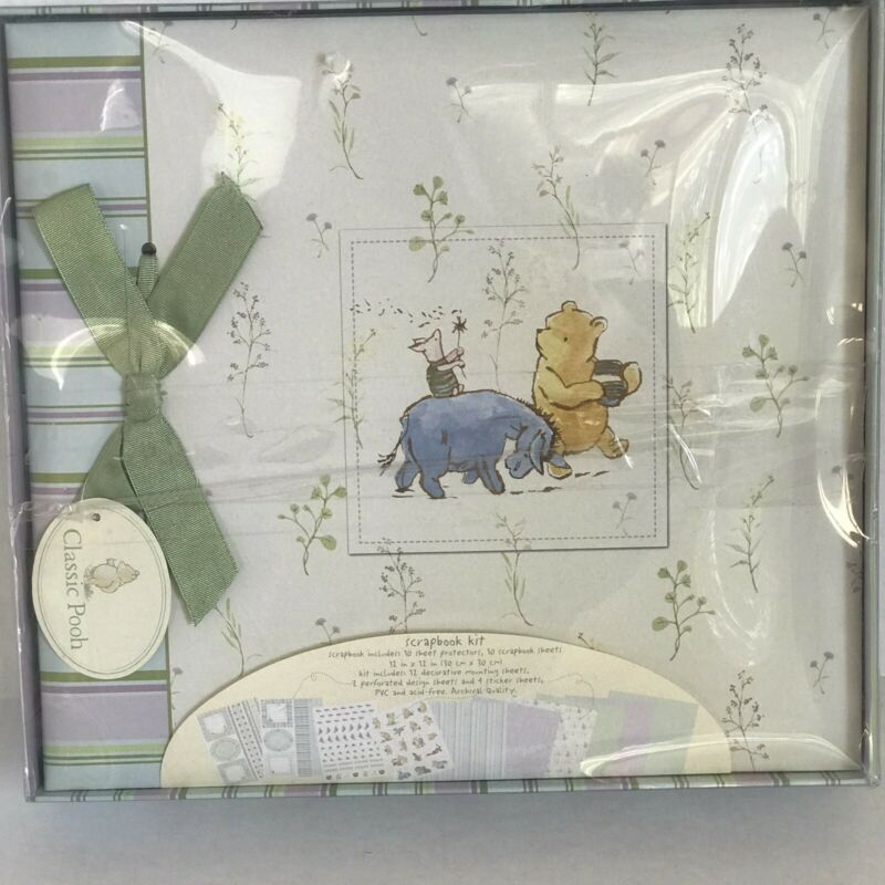 Disney Classic Winnie The Pooh Scrapbook Photo Album Keepsake Box Set NIB
