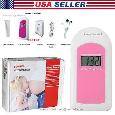 Pocket Fetal Dopplerprenatal Heart Monitor Baby Sound Baby Heart Beatgel Usa