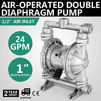 Roughneck Air-operated Double Diaphragm Pump - 24 Gpm 1in. Inlet Outlet