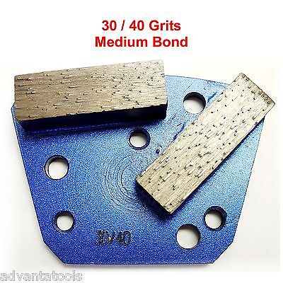 Trapezoid Htc Style Grinding Shoe Disc Plate - Medium Bond - 3040 Grit