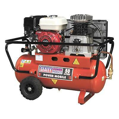 Sealey Air Compressor/Compression 50ltr Belt Drive Petrol Engine 5.5hp - SA5055
