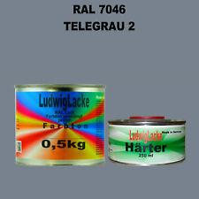 RAL 9002 Grauweiß Grauweiss 3 kg Set Acryllack glänzend mit Härter