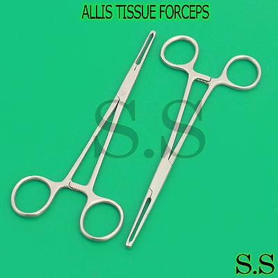 2 O.r Premium Grade Allis Tissue Forceps Clamp 5x6teeth 7.25 Sugrical Dental