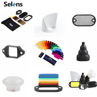 Selens Universal Magnetic Flash Modifier Gel Filter Diffuser Bounce Grip Snoot