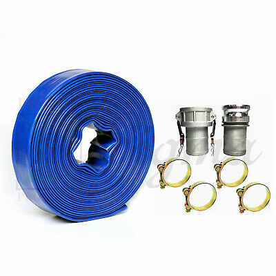 Sigma 3 In X 100 Feet Agricultural Pvc Lay Flat Discharge Pump Hose Camlock