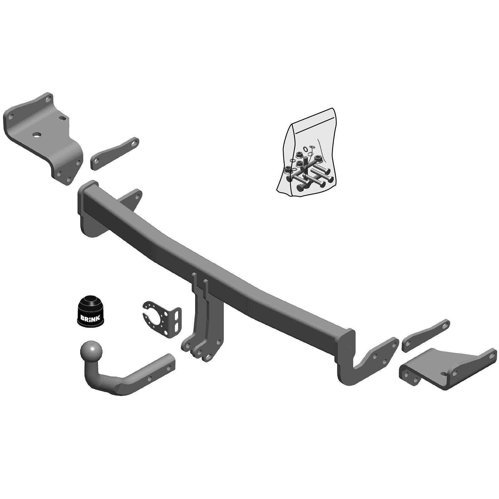 Towbar Brink fixed swan neck Honda CR-V IV 7-pin e-kit 2012- RE