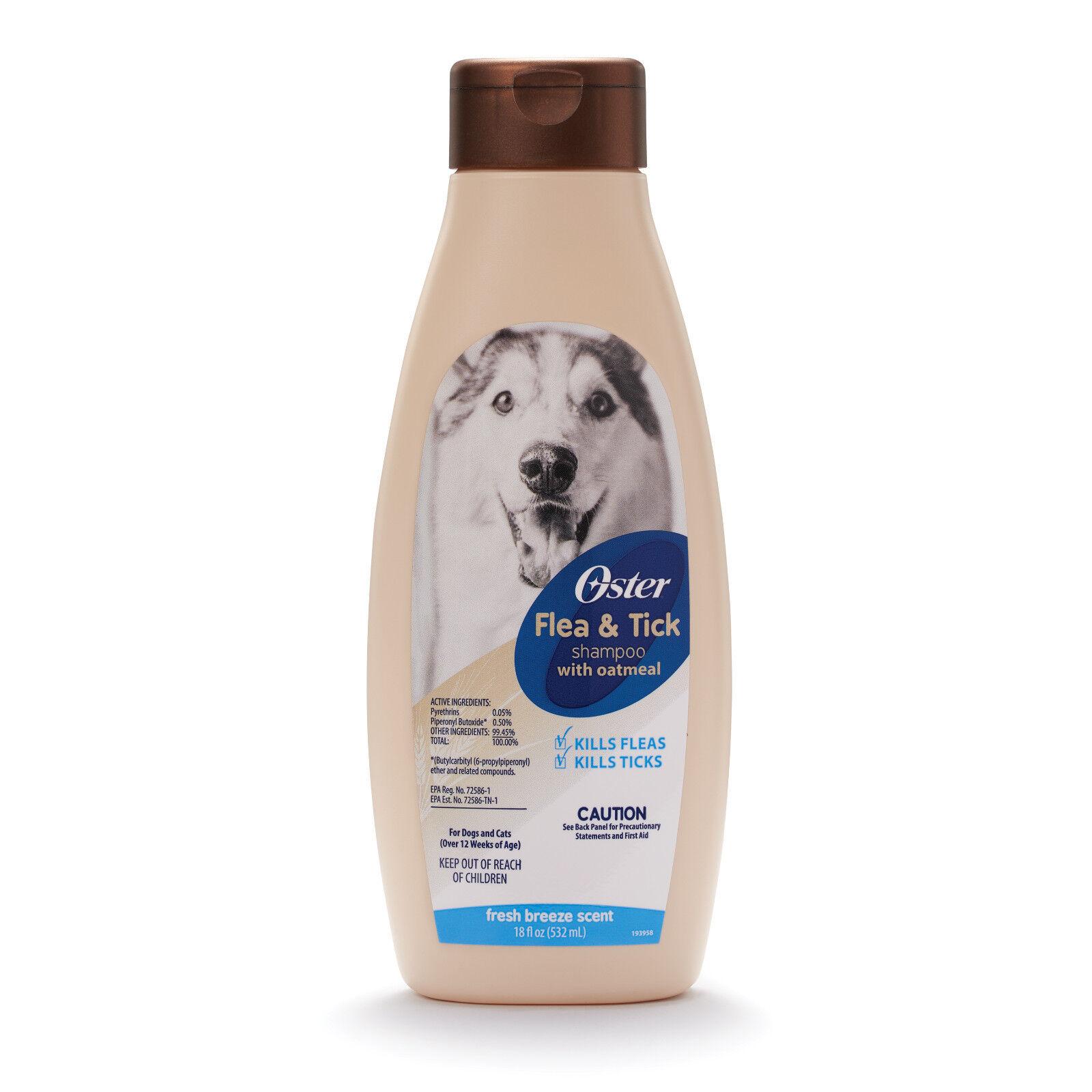 Oster Flea & Tick Shampoo with Oatmeal, Mandarin Violet, 18