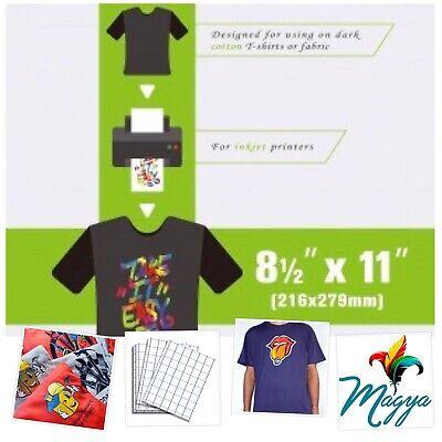 New Iron On Heat Transfer Paper Dark Colors Shirt B.g 50 Sheets Pack