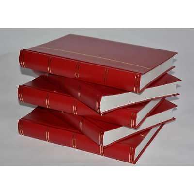 Briefmarkenalbum, Einsteckbuch, Einsteckalbum, 60 weiße Seiten, Rot, 5er-Karton
