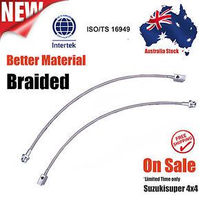 Extended Stainless Braided Brake Lines Nissan Patrol GQ Y60 GU Y61 2-8