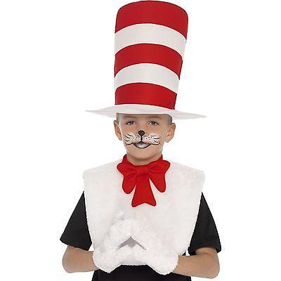 Katze Im Hut Jungen Mädchen Verkleidung Satz Outfit Büchertag Kostüm Set Kinder ()