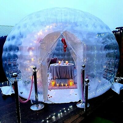 IGLOO DOME HIRE GEO DOME STARGAZING OUTDOOR BUBBLE DINING POD MARQUEE CLEAR DOME