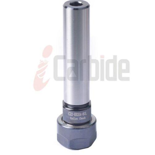 New 22mm Shank ER20  3 inch Straight Shank ER Collet Chuck Tool Holder  USA SELL