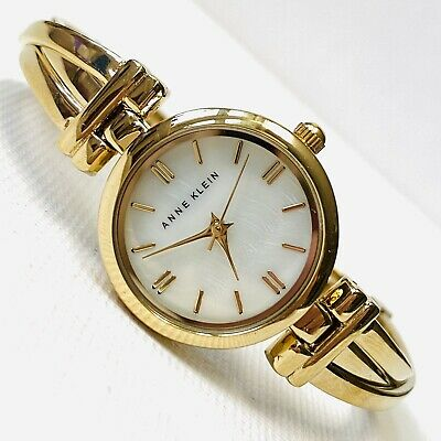 Anne Klein Women's Gold Dress Watch MOP Dial 6.5