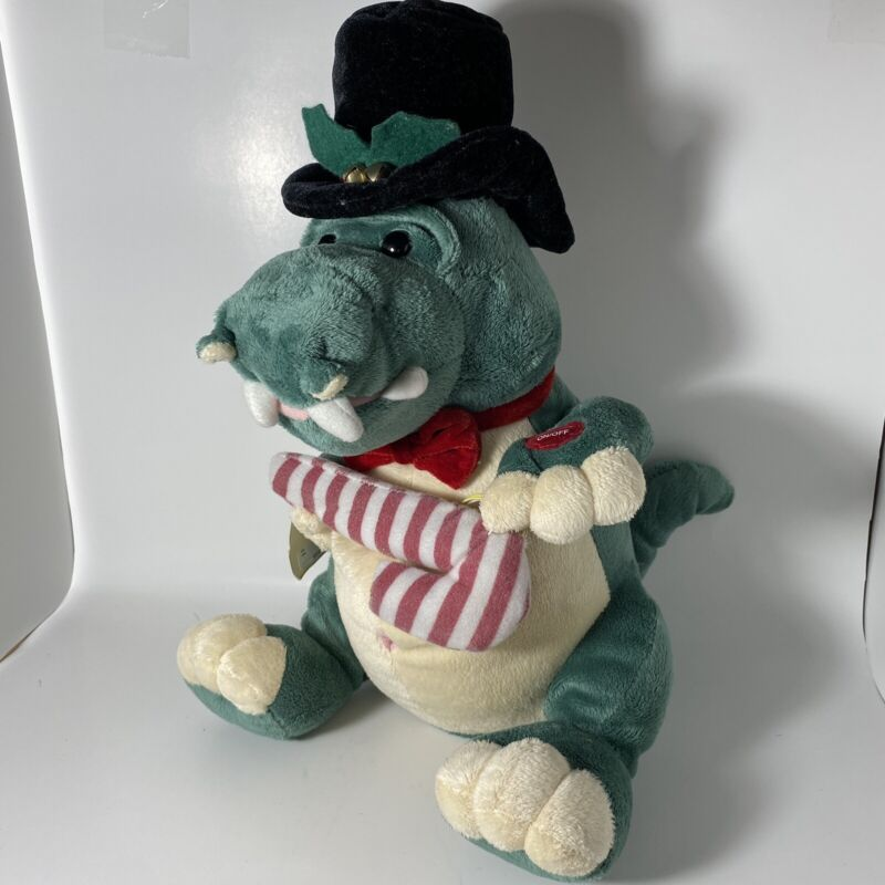 "PBC Singing 12"" Alfie Crocodile Alligator Christmas ""Jingle Bell Rock"" Plush NWT"