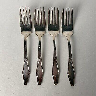 Jamestown Jamestown 1916 Pattern Monogrammed Silver Plate Large Serving Fork and Spoon Set
