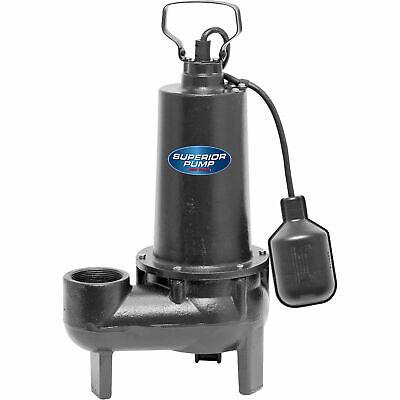 Superior Pump Cast Iron Submersible Sewage Pump - 4800 Gph 12 Hp Model 93501