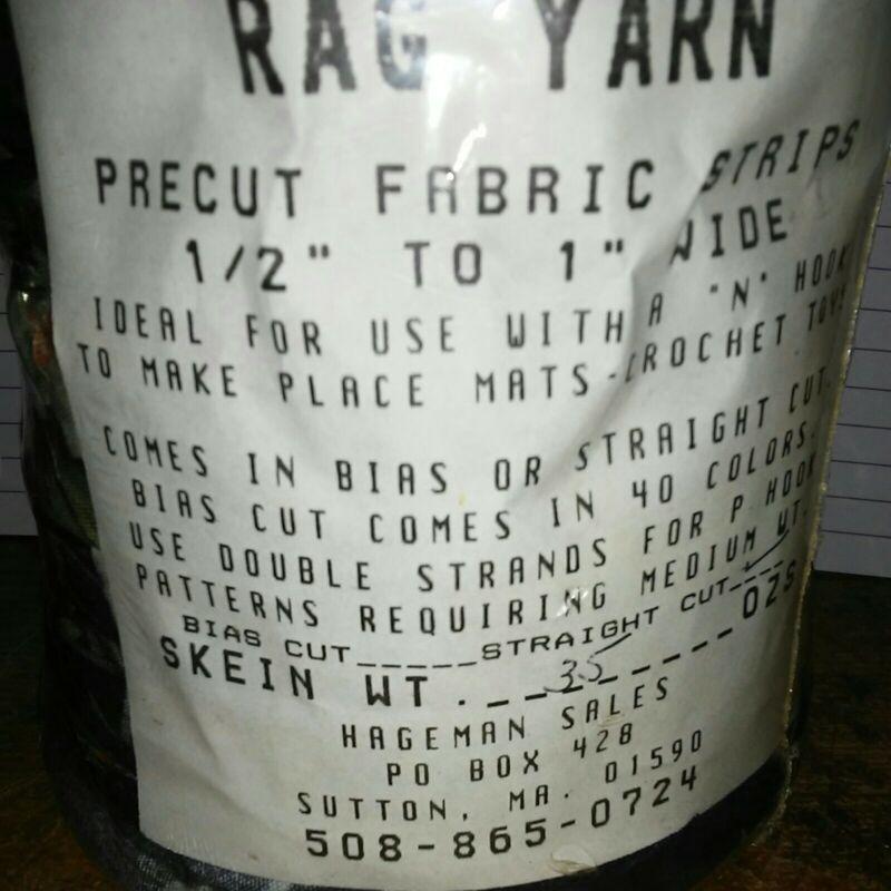 Rag Yarn Precut Fabric Strips Light Weight 35oz Straight Cut Floral