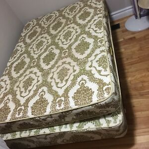 Queen size bed,mattress, box, and frame