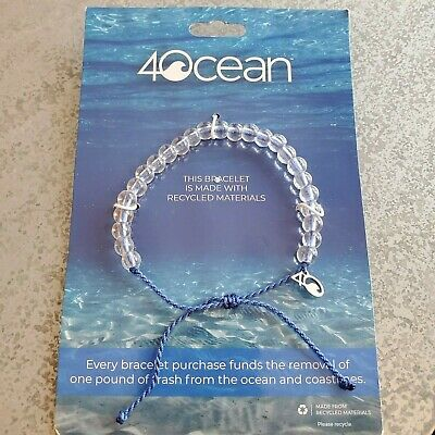 NWT NEW 4Ocean Recycled Bracelet Signature Blue 4 ocean