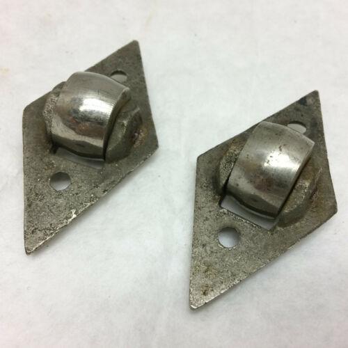 2 Metal Trunk Wheels DIY Project Hardware Nickel Brass Castor