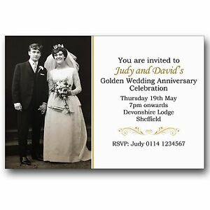 golden wedding invitations ebay