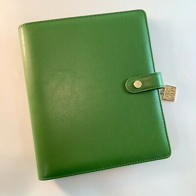 Carpe Diem A5 Planner Large Ring Binder Clover Green Agenda
