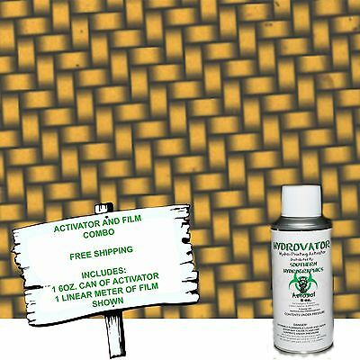Hydrographic Film Water Transfer Hydro Dip 6oz. Activator Gold Carbon Dip Kit