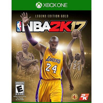 NEW NBA 2K17: Legend Edition Gold Microsoft Xbox One 2016 Video Game Kobe Bryant comprar usado  Enviando para Brazil