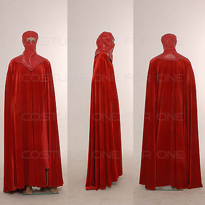 Star Wars Costume Men Full Set Red Vintage Royal Guard CosplayTailored](Star Wars Royal Guard Costume)