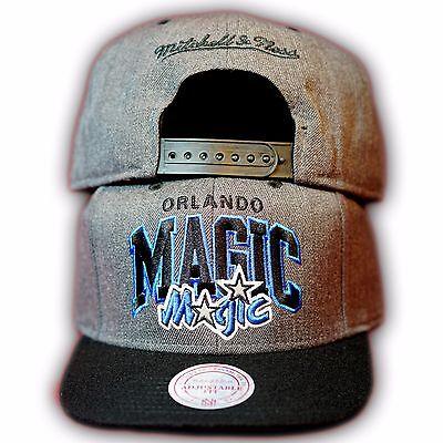 Original Mitchell & Ness Orlando Magic NBA Snapback Cap EU242 Grau/Schwarz Orlando Magic Snap
